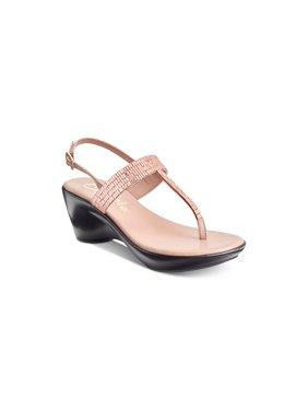 85d9a3212a Product Image Callisto Womens Dysco Split Toe Casual Platform Sandals, Rose  Gold, Size 6.0
