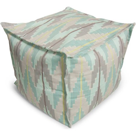 big joe beansack muted chevron bean bag ottoman. Black Bedroom Furniture Sets. Home Design Ideas