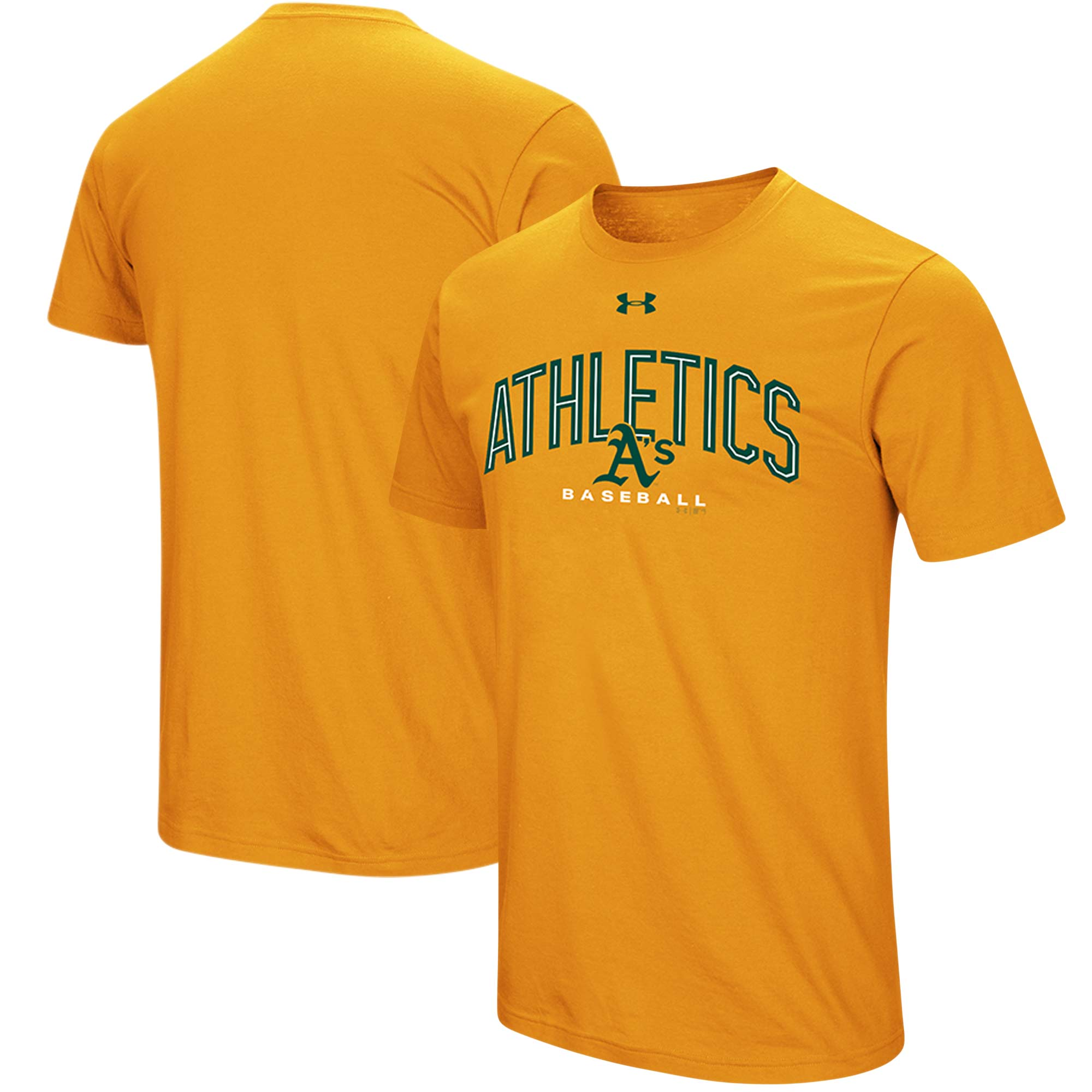 Oakland Athletics Under Armour Performance Arch T-Shirt - Gold