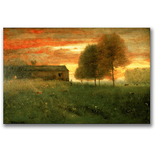 "Trademark Fine Art ""Sunset, Montclair, 1892"" Canvas Wall Art by George Inness"