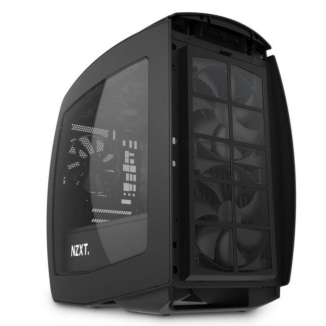 NZXT Manta No Power Supply Mini-ITX Case (Matte Black)