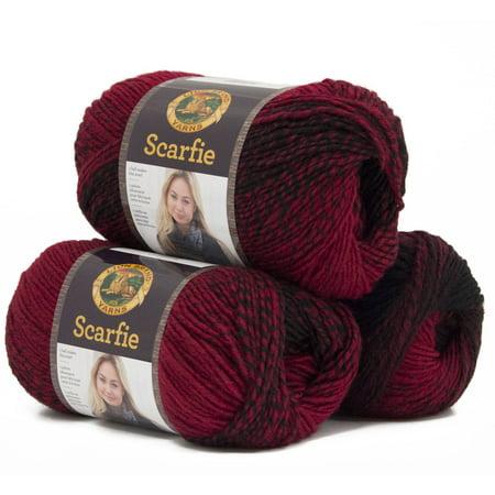 23 Acrylic Yarn - Lion Brand Yarn Scarfie Wool Acrylic Fashion Yarn, 3-Pack
