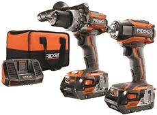 Ridgid 18-Volt Hammer Drill And 3Sp Impact Kit by Ridgid