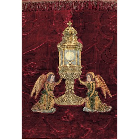 Chapel Monstrance (Unknown Altar-Cloth With Monstrance Held Up By Angels 17Th Century Unknow Italy Lombardy Gandino Bergamo Santa Maria Assunta Basilica Museum Everett CollectionMondadori Portfolio Poster Print )