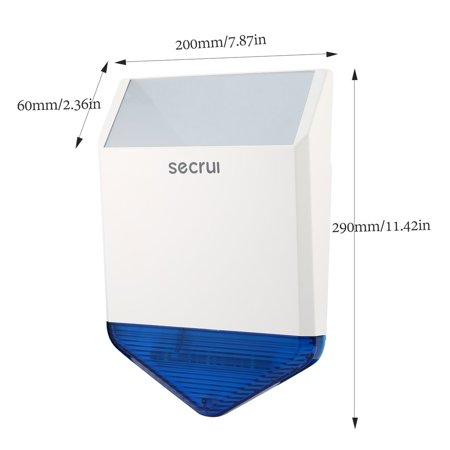 SECRUI J1 Wireless Outdoor Strobe Siren Acousto-optic Alarm