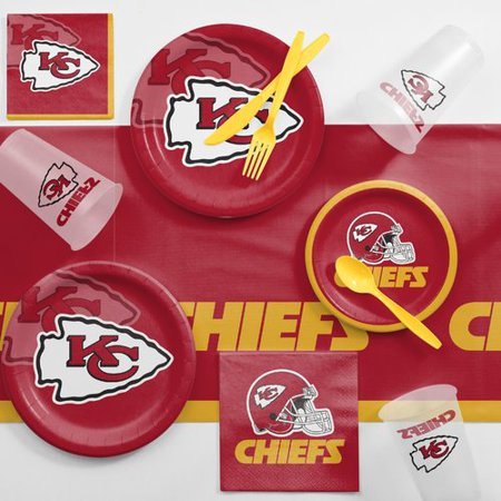 Kansas City Chiefs Game Day Party Supplies Kit (Nearest Party City)