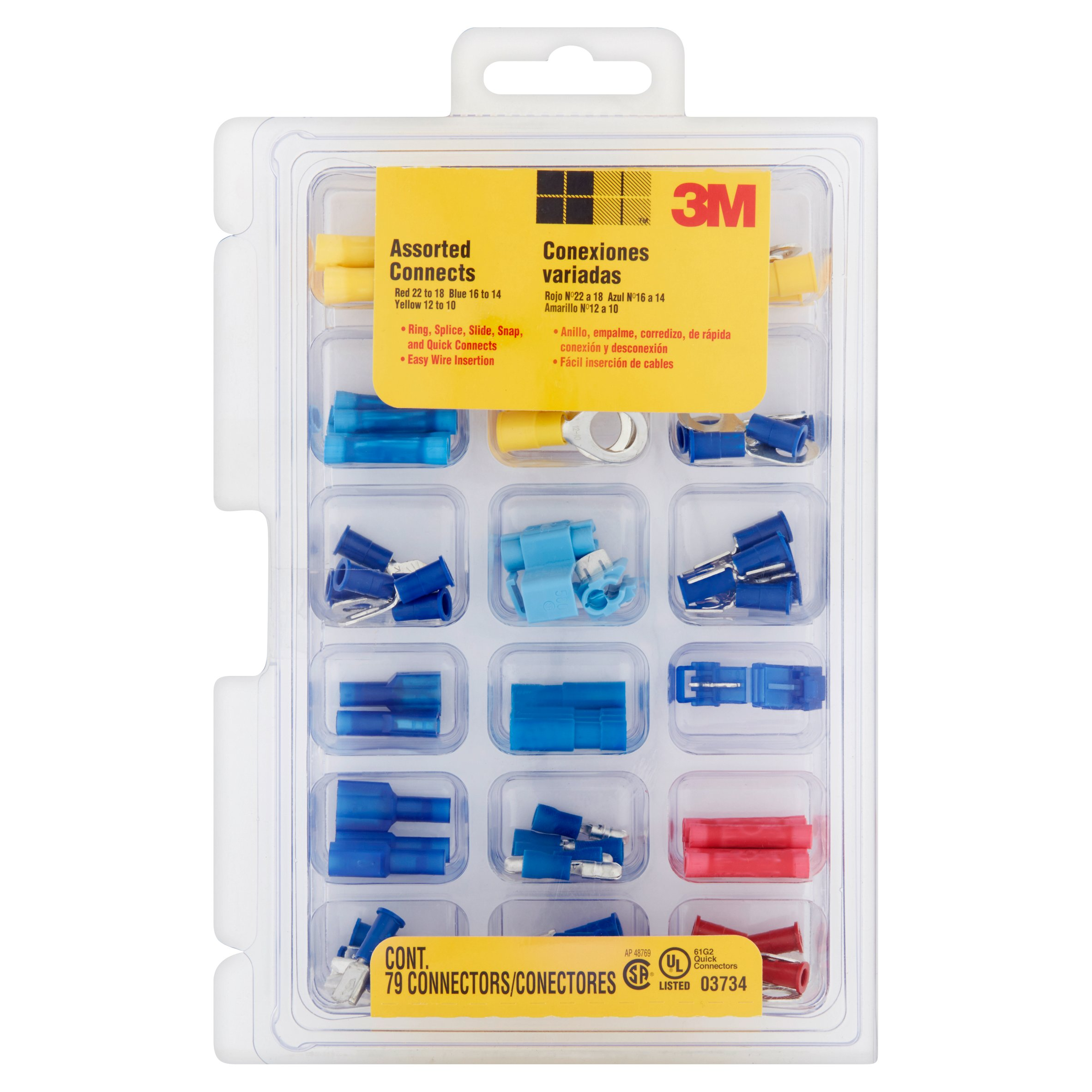 3M 61G2 Quick Connectors, 79 count