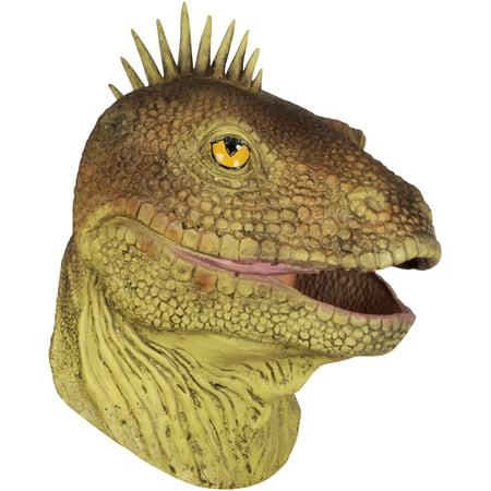 Loftus Halloween Lizard Costume Full Head Mask, Green Brown, One Size