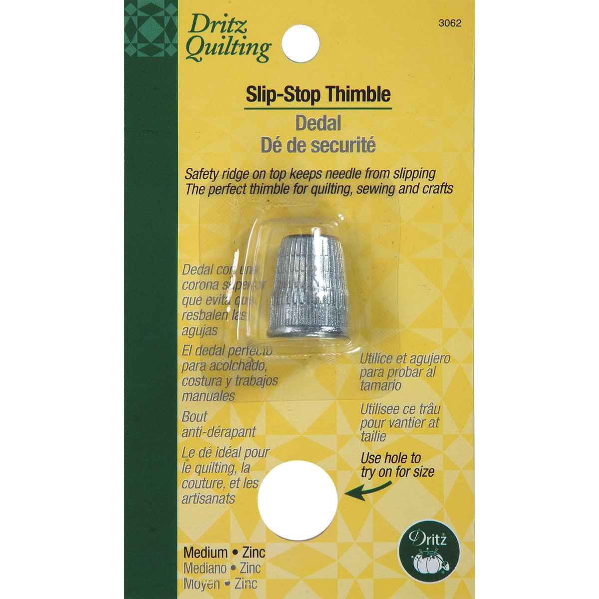 Dritz Quilting Slip Stop Thimble-Medium