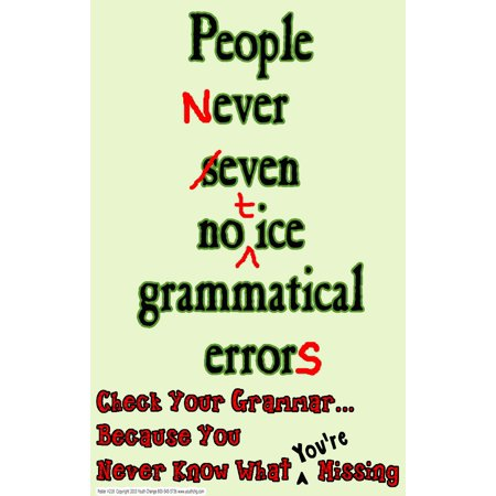 Youth Change #218 Classroom Poster Stops Grammatical Errors: Grammar Class Posters for $<!---->
