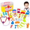 30 Pieces Pretend Doctor Play Set with Stethoscope and Medical Doctors Equipment Educational Toys - Color Random