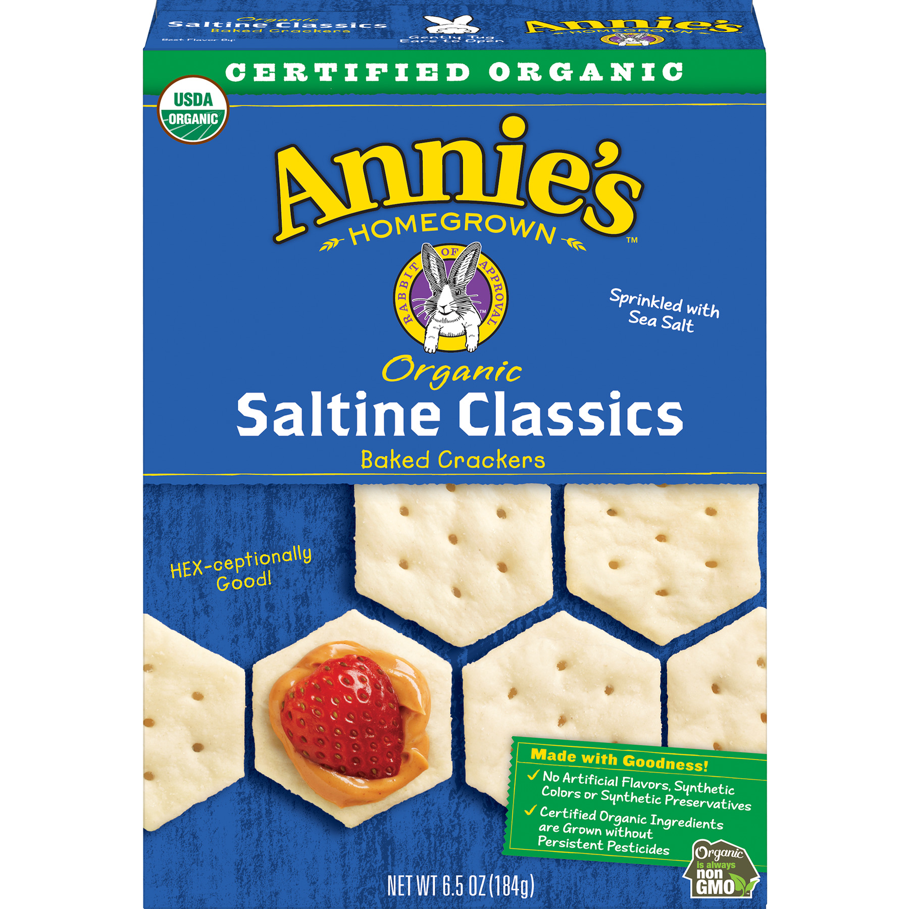 Annie's Organic Saltine Classic, Baked Crackers, 6.5 oz
