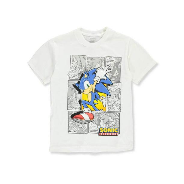 Sonic The Hedgehog Sonic The Hedgehog Boys T Shirt White 14 16 Walmart Com Walmart Com