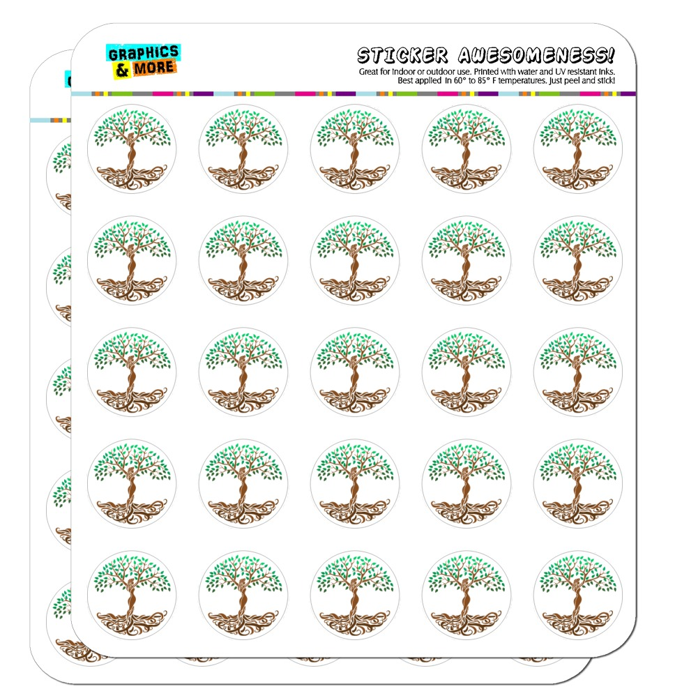 "Tree of Life Mother Nature 1"" Planner Calendar Scrapbooking Crafting Clear Stickers"