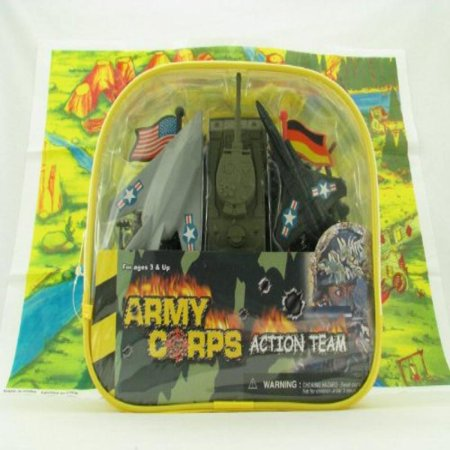 100 Piece Toy - Deluxe 100 Piece Toy Army Playset - Tanks, Trucks, Jets and More!