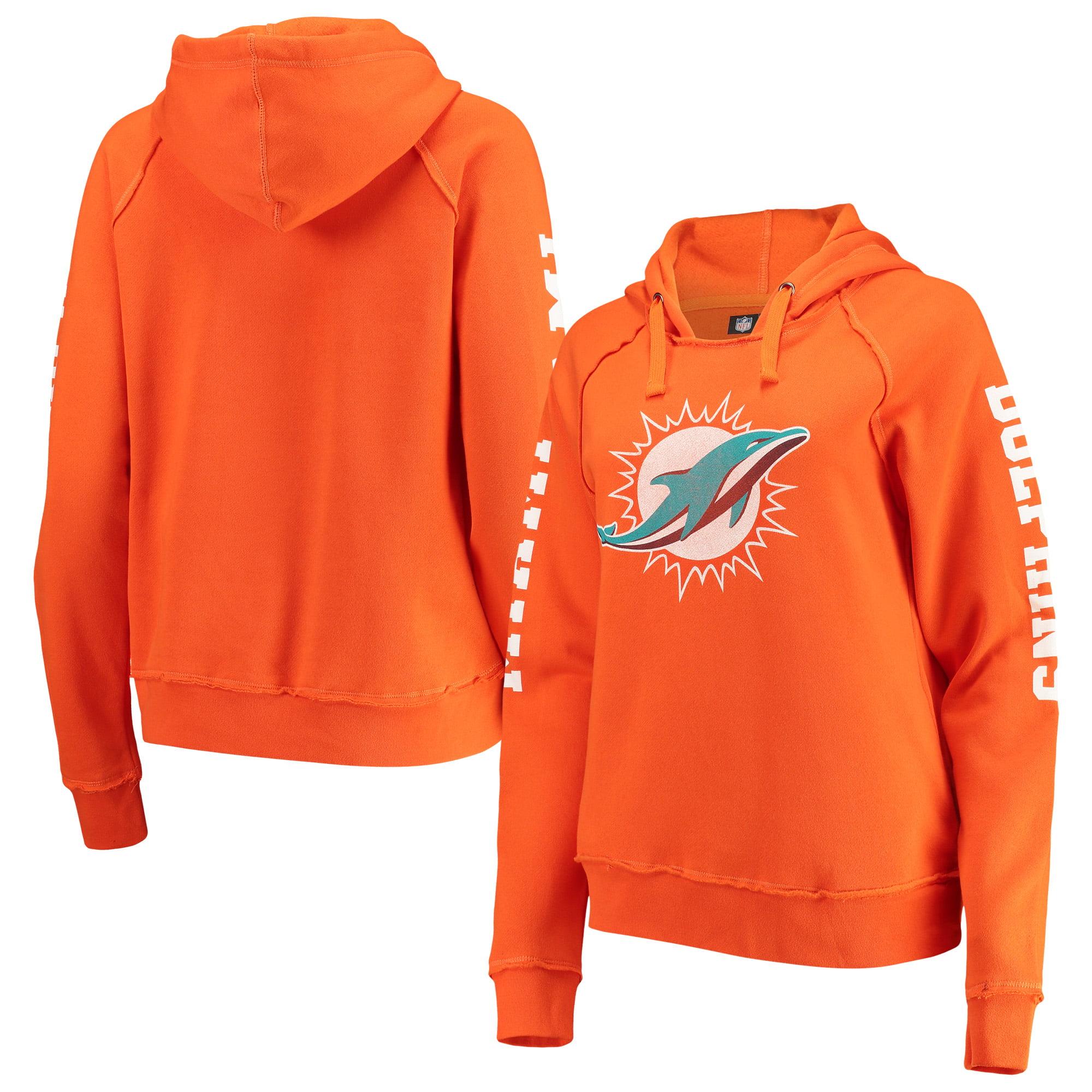 Miami Dolphins New Era Women's Fleece Pullover Hoodie - Orange