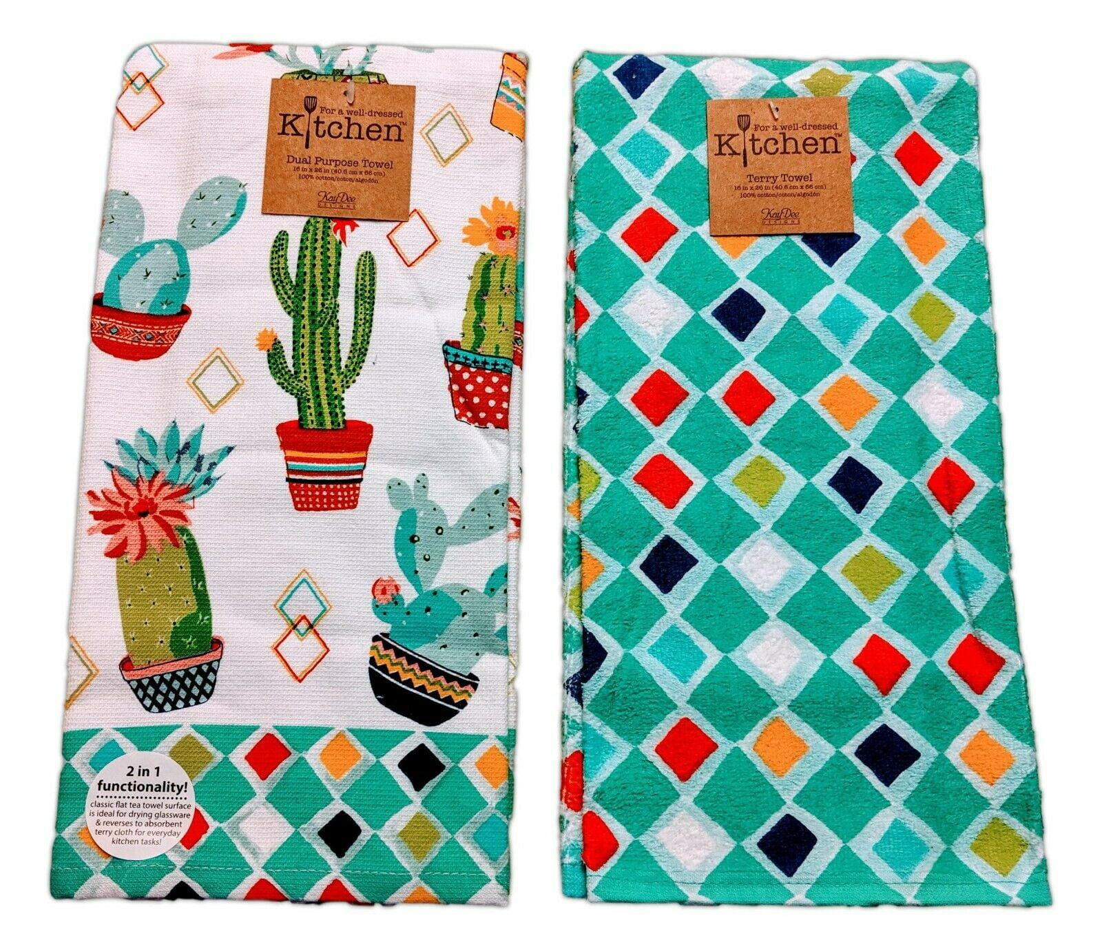 - Oven Mitt Dish Cloth Hand Towel and Potholder Tea Towel Kay Dee Designs Live Simply Kitchen Towel Set 3 pc