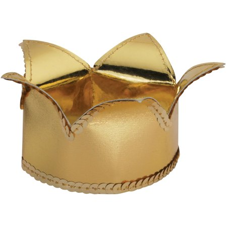 Loftus Adult Mini Minimalist Royal Curved Crown Crown, Gold, One Size (4.75in) - Mini Crowns