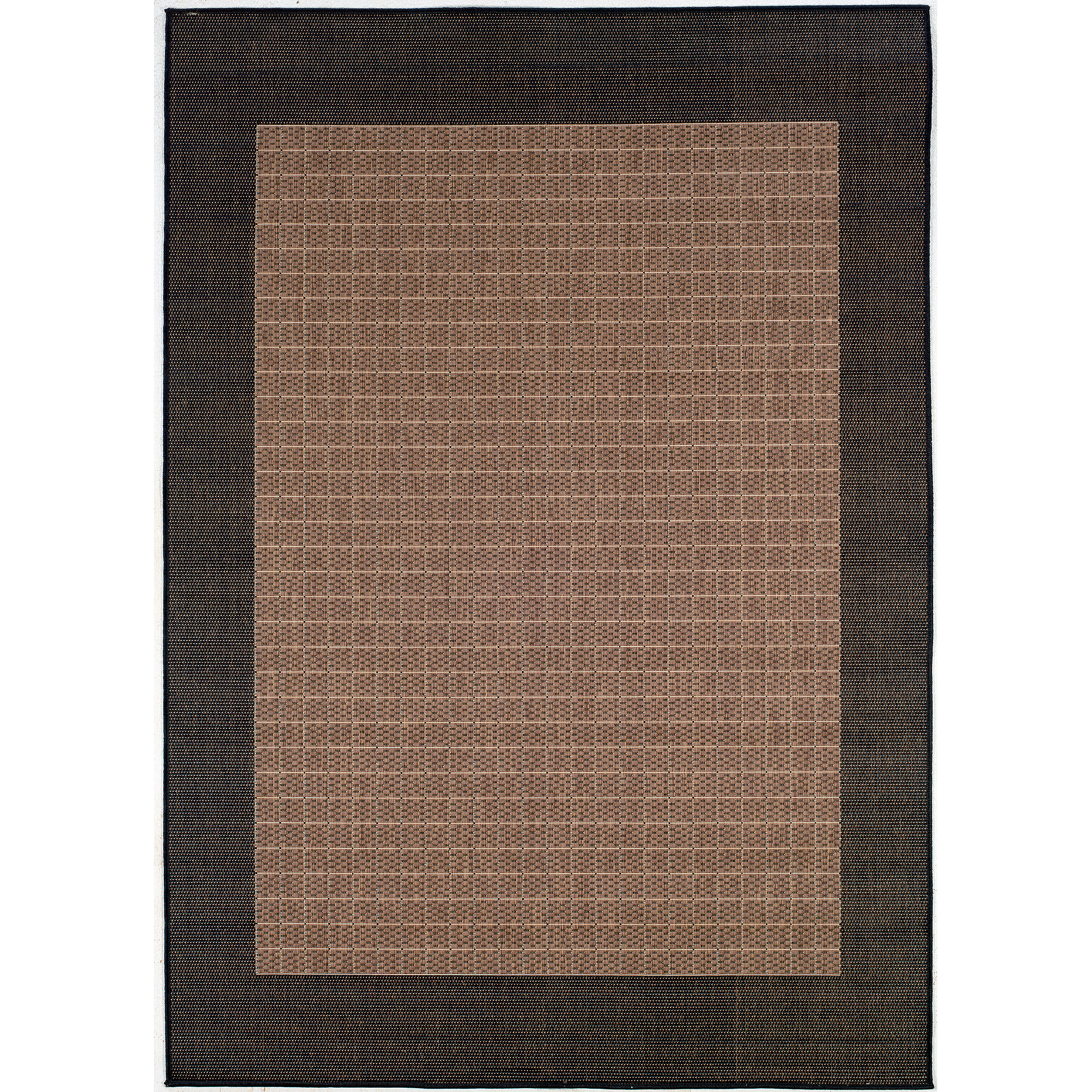 Couristan Recife Checkered Field Rug, Cocoa/Black