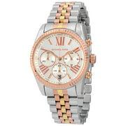 Michael Kors Lexington Chronograph Silver Dial Tri-Tone Ladies Watch MK5735