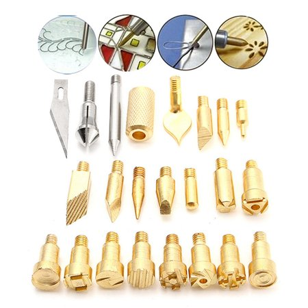 22pcs Replacement Wood engraving Burning Pen Tips Stencil Soldering Iron Pyrography Tool Tips Set Hobby Craft Kit Working Carving for 30W Wood Burning Pen](Hobby Wood)