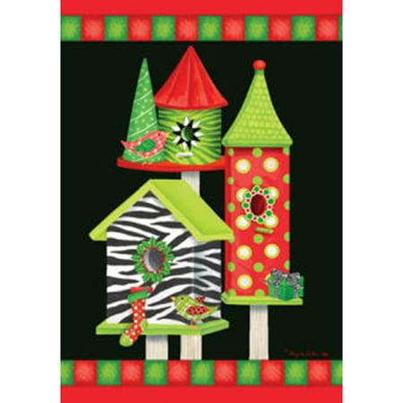 Christmas Birdhouses.Custom Decor Christmas Birdhouses Fm