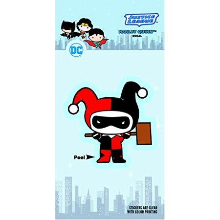 DC Comics ST DCCB HQ01_4b8 DC Chibi Justice League Harley Quinn 4x8 Car Window Decal - Harley Quinn Decal
