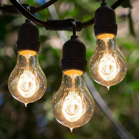 Bulbrite Incandescent Outdoor Filament String Light Warm White 48 Feet 15 Lights