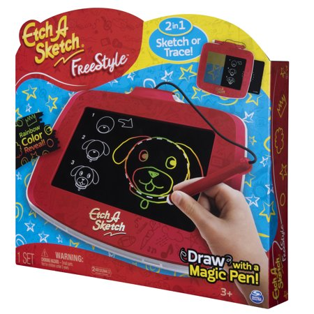 Best Etch A Sketch Freestyle, 2-in-1 Drawing and Tracing Pad with Magic Pen Stylus (Edition May Vary) deal