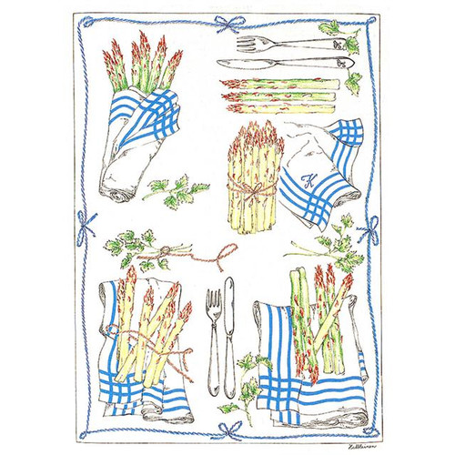 Mierco Asparagus Italian Jacquard Tea Towel (Set of 2)