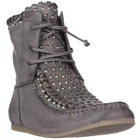 34eac84de Sam Edelman - Womens Sam Edelman Katelyn Studded Moccasin Boots - Grey -  Walmart.com