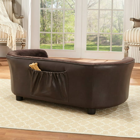 Enchanted Home Pet Panache Dog Sofa, Medium, (Medium Brown Puppy)