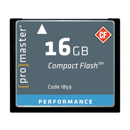 Promaster 16GB CompactFlash Memory Card 500X UDMA (Performance)