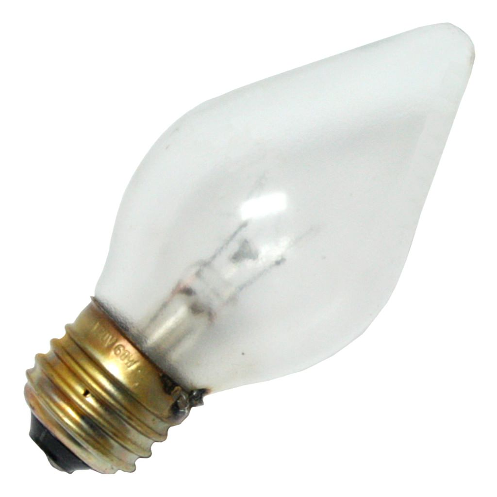 Satco 04535 60C15 TF 120V SHATTER (S4535) C15 Decor Candle Light Bulb by Satco