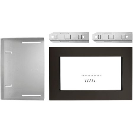 Whirlpool - 27  Trim Kit for Whirlpool 2.2 Cu. Ft. Countertop Microwave Ovens - Black stainless steel Compatible with Whirlpool 2.2 cu. ft. countertop microwave ovens; black stainless steel finish; hardware included