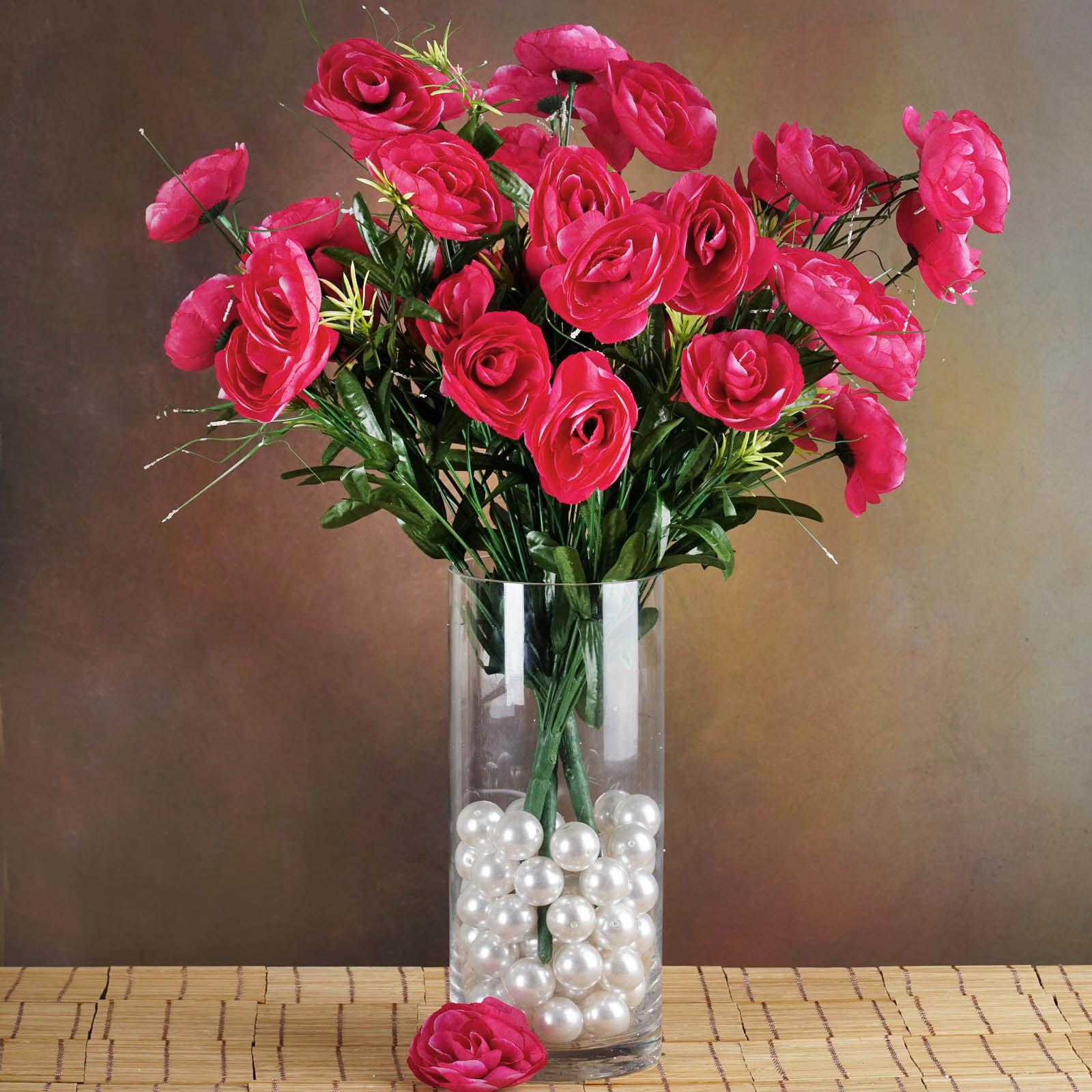 Efavormart 72 pcs Artificial RANUNCULUS Flowers for DIY Wedding Bouquets Centerpieces Arrangement Party Home Decorations - 4 bushes