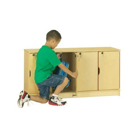 Jonti-Craft Stacking Lockable Lockers - 4 Sections - Single Stack