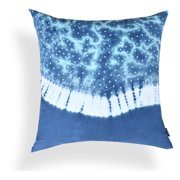 A1 Home Collections Amaryllis Blue Tie and Die Pillow