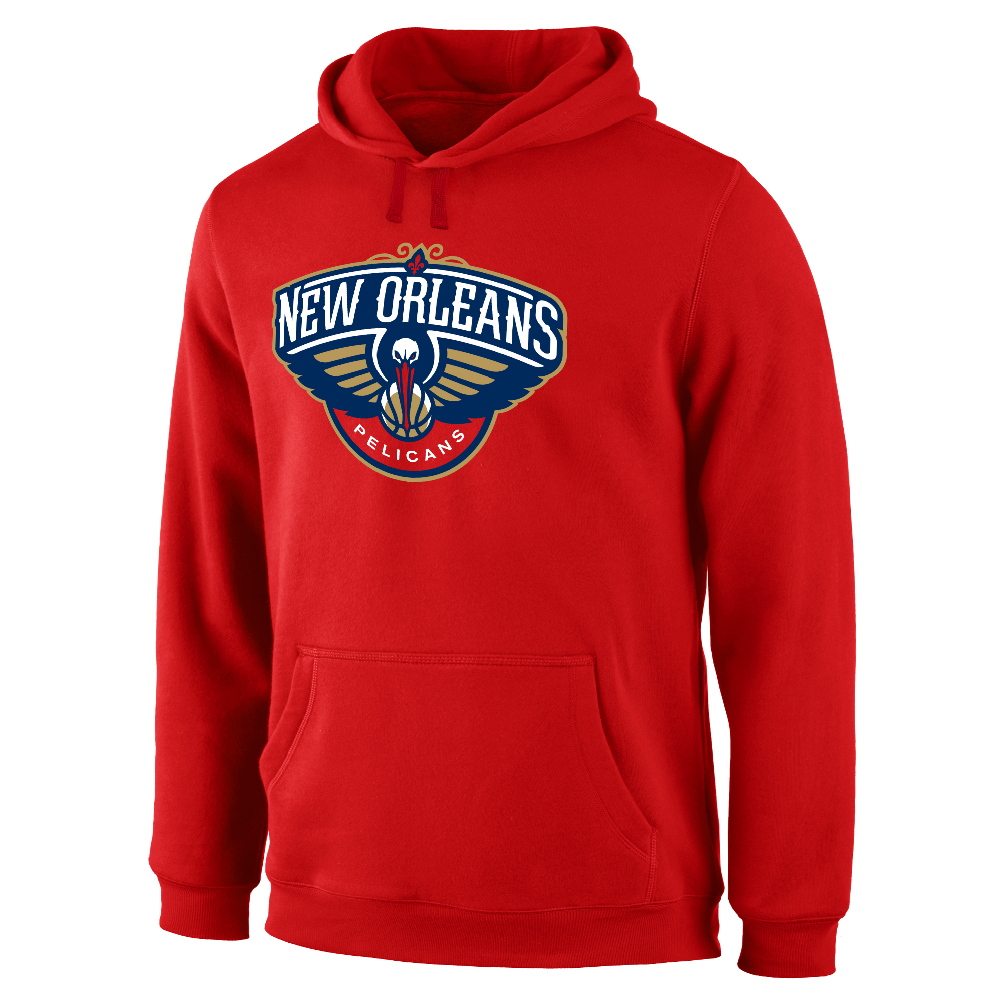 New Orleans Pelicans Primary Logo Pullover Hoodie - Red