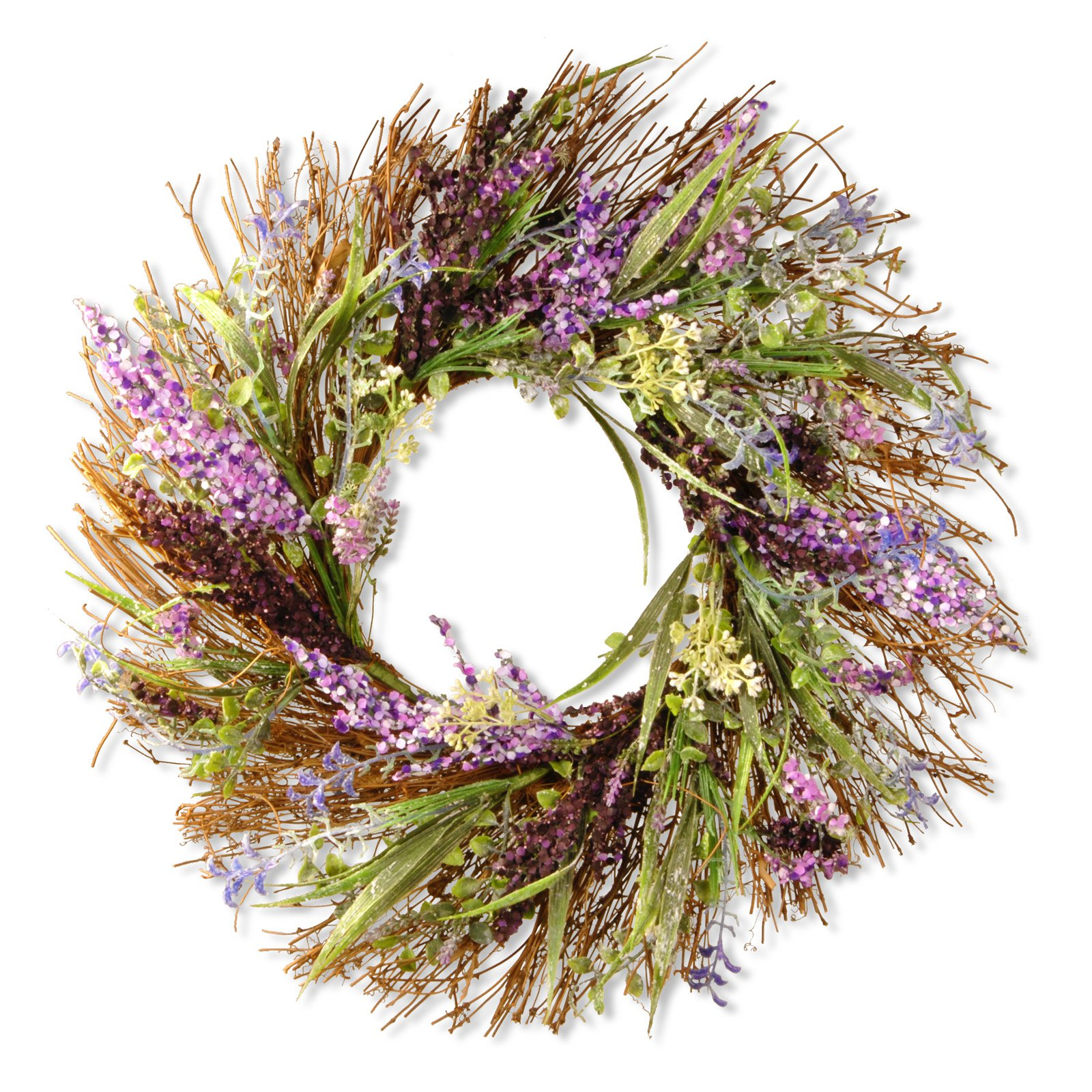 "22"" Mixed Leaf Spring Wreath"