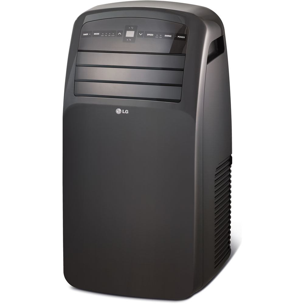 LG LP1215GXR 115V Portable Air Conditioner with LCD Remote Control, Black for Rooms up to 400-Sq. Ft.