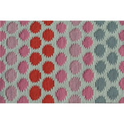 "The Rug Market Ikat Dot Pink 4.7"" x 7.7"" Area Rug"