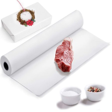 White Kraft Butcher Paper Roll - 30in x 100 feet - Food Grade -Made in USA - Best for Smoking, BBQ, or Crafts, Wrapping Food, Packaging. Easy to Use Light & Strong 40#