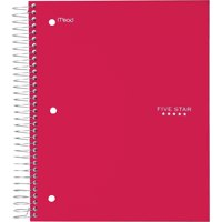 Five Star, MEA72041, Wide Rule 5-subject Notebook, 1 Each