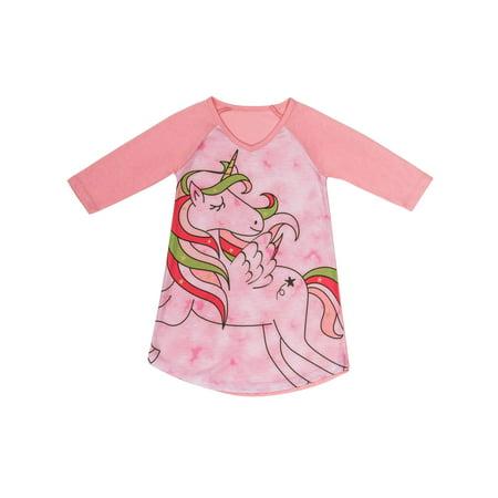 Girls' Unicorn Pajama Nightgown (Little Girl & Big Girl)