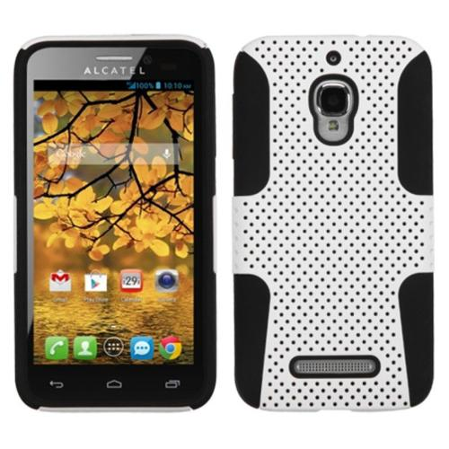 Insten White/Black Astronoot Phone Protector Case Cover For ALCATEL One Touch Fierce 7024W