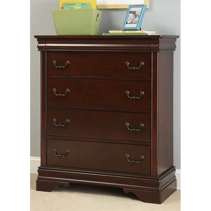 Liberty Furniture Carriage Court 5 Drawer Chest in Mahogany Stain