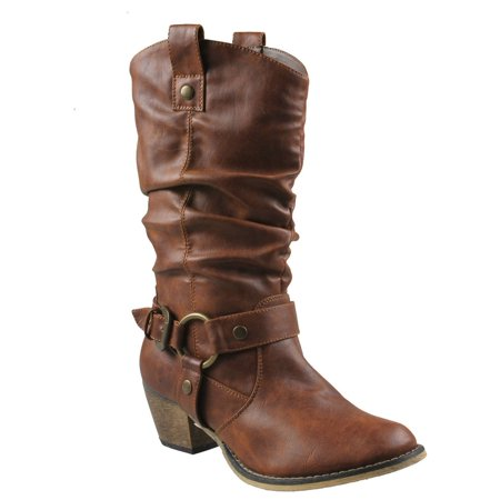Refresh Women WILD-02 Western Style Cowboy Boots - Cowboy Boots For Toddlers
