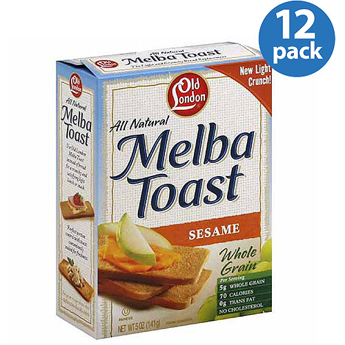 Old London All Natural Sesame Melba Toast, 5 oz (Pack of 12)