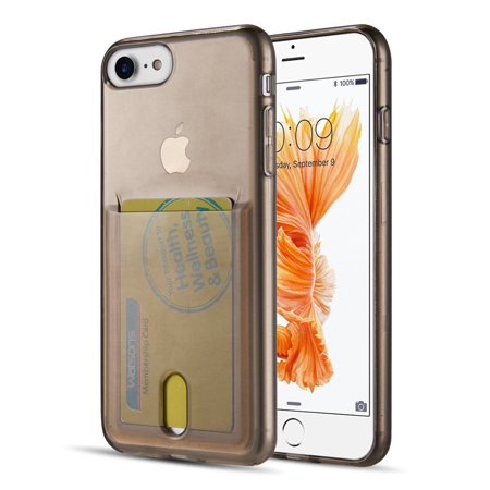 Apple Iphone 8 / 7 Id Card Display Tpu Transparant Crystal   Skin Case - Smoke (Id Display)